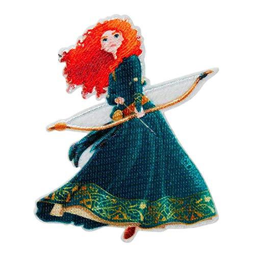 Disney © Merida Prinzessin Bogen Schütze - Aufnäher, Bügelbild, Aufbügler, Applikationen, Patches, Flicken, zum aufbügeln, Größe: 7 x 5,7 cm
