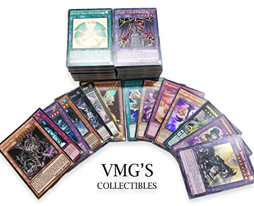 YuGiOh NM//M 200 Yugioh Card Lot with 20 rares//super rares from different  Sets