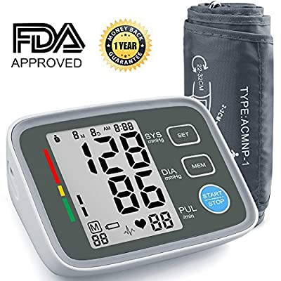 Blood Pressure Monitor BESUNTEK BP Monitor Blood Pressure Cuff with Memory Storage Pulse Diastolic Systolic Measurement and Large Screen Displaying