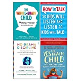 Whole-Brain Child, How To Talk So Kids Will Listen And Listen So Kids Will Talk, No-Drama Discipline, Yes Brain Child 4 Books Collection Set