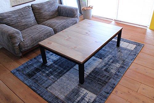 天然木天板 ヴィンテージこたつテーブル120×80cm ファン付ハロゲンヒーター