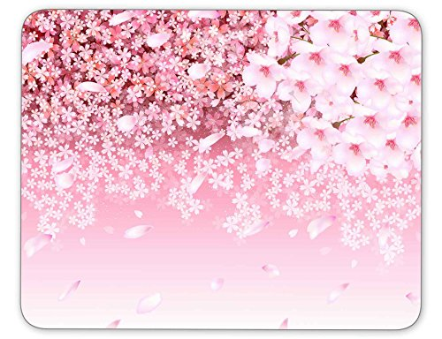 Qien BaiSei Cherry Blossom Background Mouse pad-Non-Slip Rubber Mousepad-Applies to Games,Home, School,Office Mouse pad