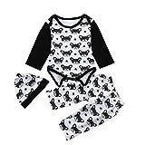 3PCs Jungenbekleidung Mädchenbekleidung Neugeborenes Babybekleidung Schlafanzüge Babyausstattung...