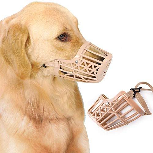 Maulkorb Einstellbare Golden Retriever Pet Anti-Bite für Big Dog Puppy Small Dog Muzzle Large 1 Anzug,4