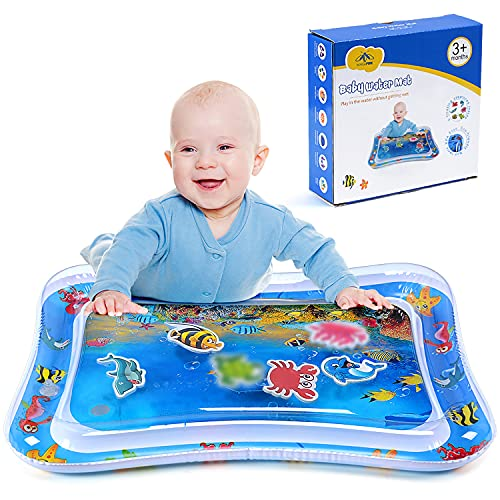 MAGIFIRE Tummy Time Water Mat, Baby Water Mat Infant Inflatable Play Mat for 3 6 9 12 Months Newborn Boys Girls