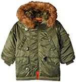 Alpha Industries N-3B Parka Y Made With 100% Flight Nylon for Extreme Cold Weather for Youth |...