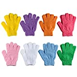 Best Exfoliating Gloves - 8 Pairs Exfoliating Bath Gloves Double Sided Exfoliating Review