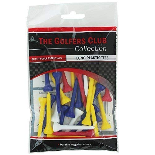 Golfers Club The Mixed Long Plastic Golf Tees 50mm x 30