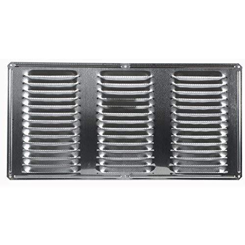 Air Vent 8 in. H x 16 in. L Mill Aluminum Undereave Vent