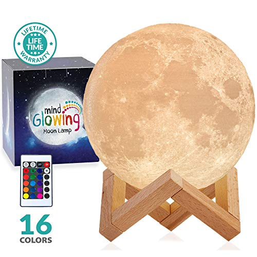 3D Moon Lamp - Rechargeable Nigh...