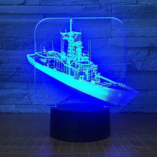 DFDLNL nachtlampje voor boot 3D LED acryl Bulbing optische illusie tafellamp baby slaapkamer decoratie thuis