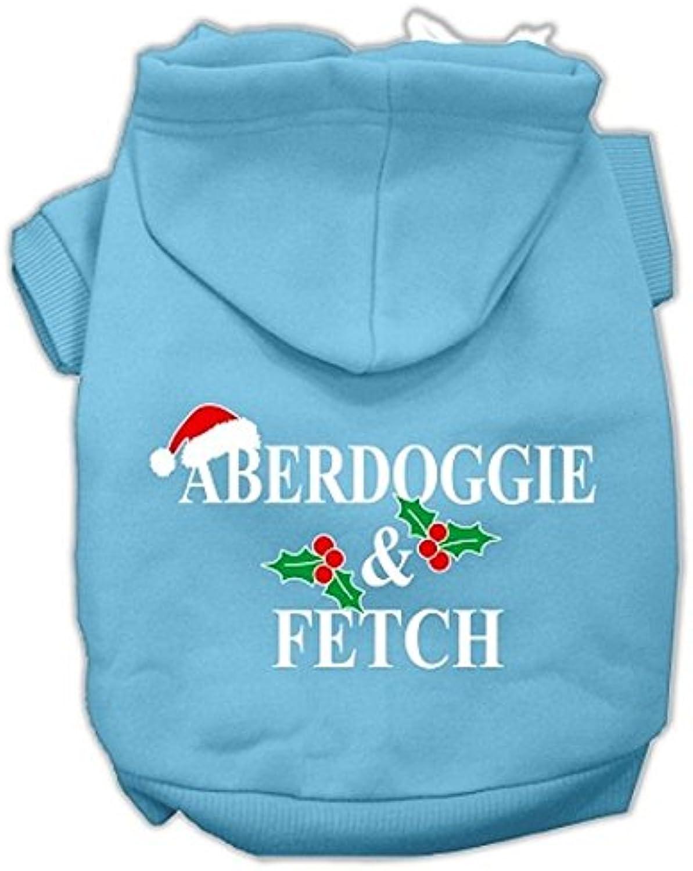 Mirage Pet Products Aberdoggie Christmas Screen Print Pet Hoodies Baby bluee, Medium