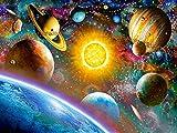 Bimkole 5d Diamond Painting Kit Bricolaje Arte Sol Cielo Estrellado,Universo Planeta Tierra Pintura Diamantes Kits Estampados De Punto De Cruz Diamantes de Imitación Decoración de Pared,(30x40 cm)