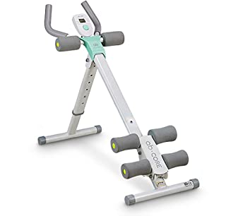 leikefitness Height Adjustable Ab Trainer Abdominal Whole Body Workout Machine Waist Cruncher Core Toner, Leg, Thighs, Buttocks Shaper with LCD Monitor AB9300