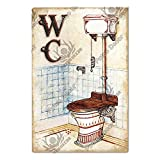 Interesting Guide Signs Men And Women Logo Metal Signs Public Places Bathroom Toilet Wall Art Iron Plaque 7.8x11.8inch 3