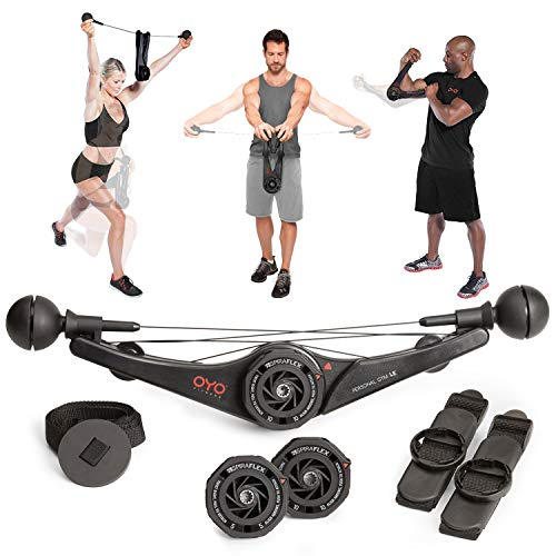 Best Bargain OYO Personal Gym - Full Body Portable Gym Equipment Set for Exercise at Home, Office or...