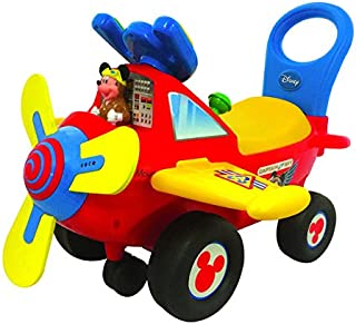 Kiddieland Disney Mickey Mouse Clubhouse Plane Light and Sound Activity Ride-On, Multi
