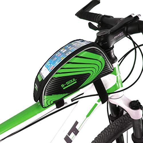 JIAAN Bolsa de Bicicleta Bolsa de Manillar de Bicicleta Bolsa para el Manillar Delantera de Bicicleta Bolsa para 5.5 Pulgadas Celular 1.5L Bolsa Porta-Cámaras y Smartphone,Talla Única
