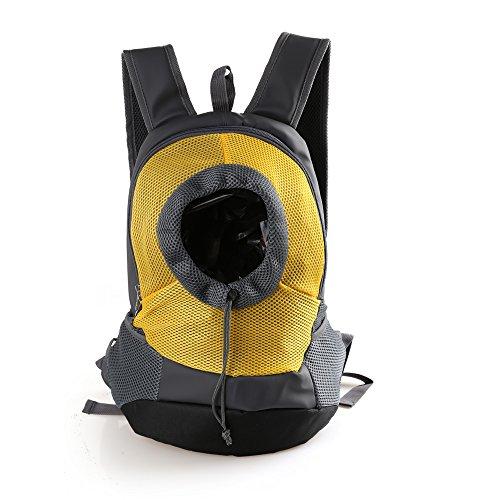 RC GearPro Mochila portátil para Mascotas, diseño de Cabeza hacia afuera, Ajustable, para Gato, Perro, Viaje, Bolso de Hombro Delantero, fácil de Ajustar para Viajar, Caminar, Acampar (L, Amar
