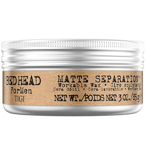 Bed Head for Men by Tigi Matte Separation Cire coiffante pour homme, fixation forte, 85 g