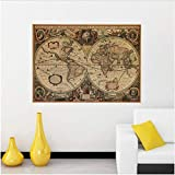 Alte Seekarten Vintage Kraftpapier Poster Wandaufkleber Raumdekoration Home Decal Global Maps Wandkunst