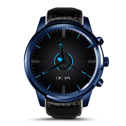 OJBDK Smart Watch Bluetooth 3G Smartwatch Phone 1.3GHz ROM cuádruple de 2GB RAM 16GB, podómetro GPS con Android 5.1,Black