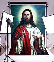 GooEoo 3×5フィートビニール背景写真背景要約イエス・キリスト信仰宗教文化古代の家の装飾教会の壁紙背景パーティーイベント写真撮影肖像画背景