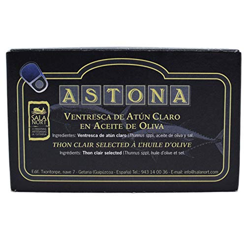 Ventresca artigianale di Tonno Bianco (ASTONA) IN OLIO DI OLIVA IN LATTA 115G prodotta da Salanort