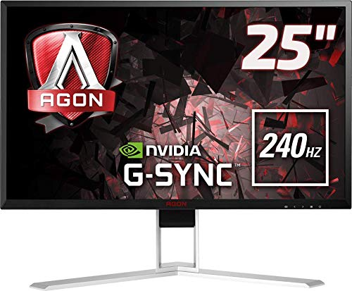 Monitor LED Gamer Agon, 240Hz, 1 ms, HDMI, Display Port, USB, G-Sync, AOC, AG251FG, 24.5'