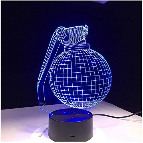 3d luz nocturnaForma de granada -usb poder touch -Decoración creativa ideal de arte y artesanía