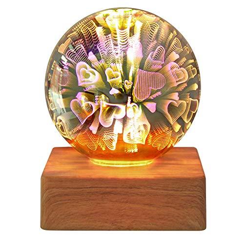 3D Night Light USB Power Glass Ball Starry Sky light 4W Magic Crystal Ball Decorative Lamp Colorful Christmas Gift-B