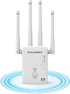 GALAWAY WiFi Range Extender, 1200Mbps WiFi Booster AC WiFi Extender WiFi Repeater with 4 External Antennas, WiFi Signal Amplifier Dual External Band 2.4GHz and 5GHz