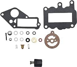 Carbman 382048 Carburetor Rebuild Carb Kit Repair w/Float for Evinrude Johnson Outboard 9.5 hp