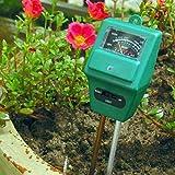 Sharp choice Soil Tester,3-in-1 Soil Moisture,ph Meter Test Kit with Light Gauge Function,Soil