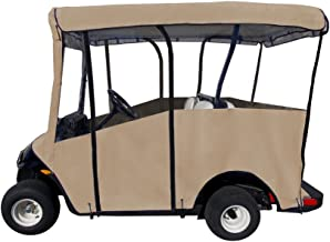 """Golf Cart Cover – Premium Extended Roof Drivable 4-Sided Cart Cover w/ 80"""" x 48"""
