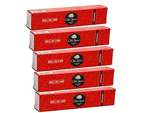 Old Spice 5 pc set vieux épice original crème à raser livrer rapidement en 3-5 jours | 70 gram chaque | hommes super pack soins toiletter |