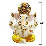 alikiki Hindu Lord Ganesha Idol - India Ganesh Statue Diwali Decor - Indian Puja Items Meditation Temple Mandir