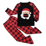 Writtian Pijamas De Navidad Familia Conjunto Hombre Mujere Niño Niña Casual Otoño Camiseta y Pantalones Conjunto Juego Homewear Mamelucos Navideños Bebé Papá Mamá