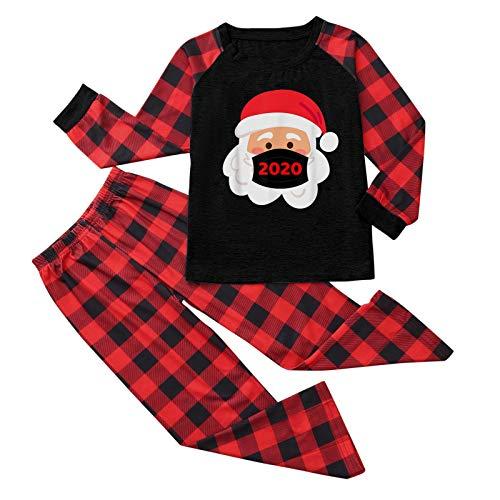 DreamedU Pijamas De Navidad Familia Conjunto Pantalon y Top...
