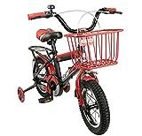 Airel Bicis Infantiles | Bici con Ruedines y Cesta | Bicicletas Infantiles para Niños y Niñas | Bicicletas 16 y 18 Pulgadas | Bicicletas niños 4-7 años | Color: Rojo-Rojo Pulgadas: 16