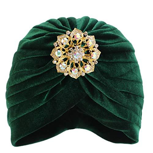 yhdcc44 Herbst Winter weiblicher Kopf, Schal Mütze weich warm lässig Indien Afrika muslimische Mütze (GN)