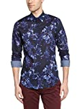 Desigual David - Camisa Casual de Manga Larga para Hombre, Talla S, Color Azul Marino
