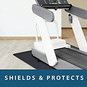 "MotionTex Treadmill Exercise Equipment Mat, 36"" x 84"", Black"