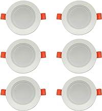 Blesiya LED Inbouwspot 5W Dimbare LED Inbouwspot Plafondspot Ronde Platte Lamp Inbouwspot 220-240V - 6 stuks 3500K