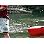 Campingandkayaking Made in The USA! NO Hook & Loop to Fail! Paddle Leash with a 2 Rod Leash Set, 3 Black Leashes Total… 16 3 black gear leashes included, 1 for the paddle, 2 additional leashes for rods or other light gear. If a super long leash is needed, they simply loop together, (See the picture of the loops) Fixed elongation, Will not over stretch and loose elasticity. Woven construction and long bar-tack sewn, Built to last. 20 inches of elongation keeps it out of the way but gives you the reach you need when paddling or reeling in the big one.