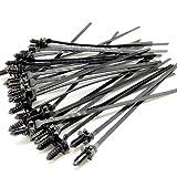 FidgetGear 100 Stück Auto-Krawatten-Clip abnehmbar Nylon Kabel-Befestigung Clips selbstverriegelnd