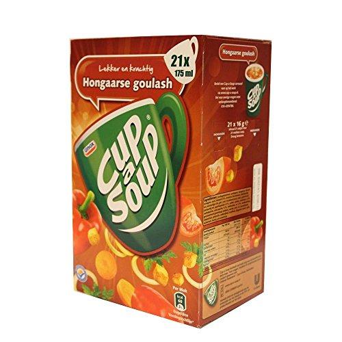 Unilever Coup a Soup, Gulasch Ungherese, Minestra, Piatti Pronti, Pacchetto, 21 x 175 ml