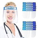10 Unidades de Visera Transparente Pantalla protección facial, Máscara Protectora Antivaho Para la Nariz y la Boca,...