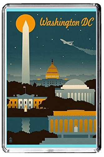 F014 WASHINGTON DC FRIDGE MAGNET USA VINTAGE TRAVEL PHOTO CALAMITA DA FRIGO