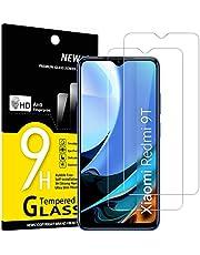 NEW'C 2-Stuks, Screen Protector voor Xiaomi Redmi 9T 5G, Xiaomi Poco M3, Gehard Glass Schermbeschermer Film 0.33 mm ultra transparant, ultra resistent, Anti-kras, anti-vingerafdrukken